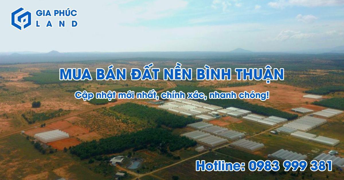 Mua bán đất nền Bình Thuận