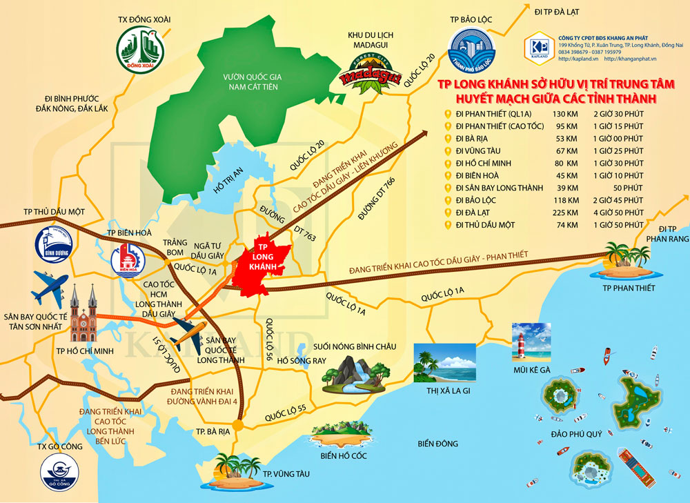 Quy hoạch hạ tầng giao thông thành phố Long Khánh kết nối đến các tỉnh khác